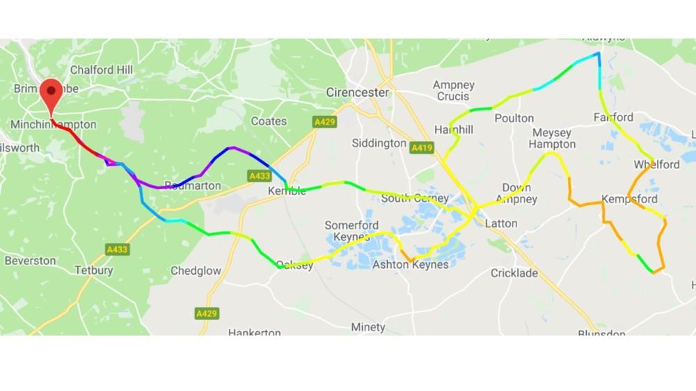 60 Mile route 2018